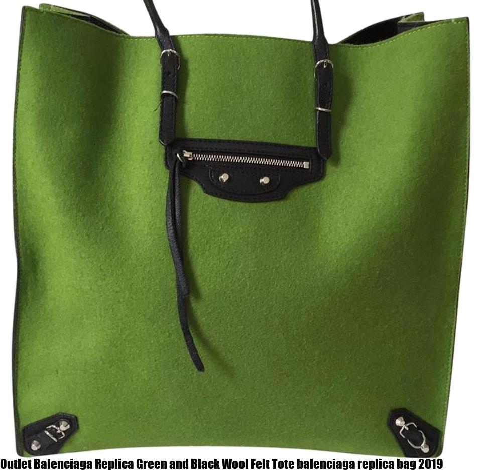 9ff4cd97dad1 Outlet Balenciaga Replica Green and Black Wool Felt Tote balenciaga replica  bag 2019 – Replica Bags – Replica Louis Vuitton, Goyrad, Gucci, Hermes  Handbags