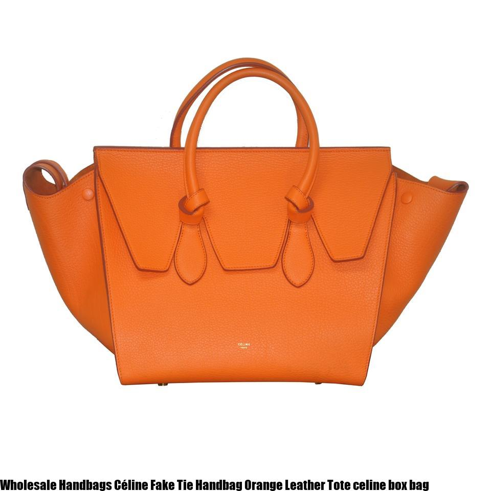 2b54bc4e448b6 Wholesale Handbags Céline Fake Tie Handbag Orange Leather Tote celine box  bag – Replica Bags – Replica Louis Vuitton, Goyrad, Gucci, Hermes Handbags